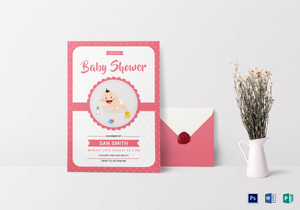 Baby Showers Invitations Templates ~ Baby shower invitation designs & templates in word psd publisher
