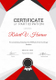 Marathon Excellence Certificate Design Template