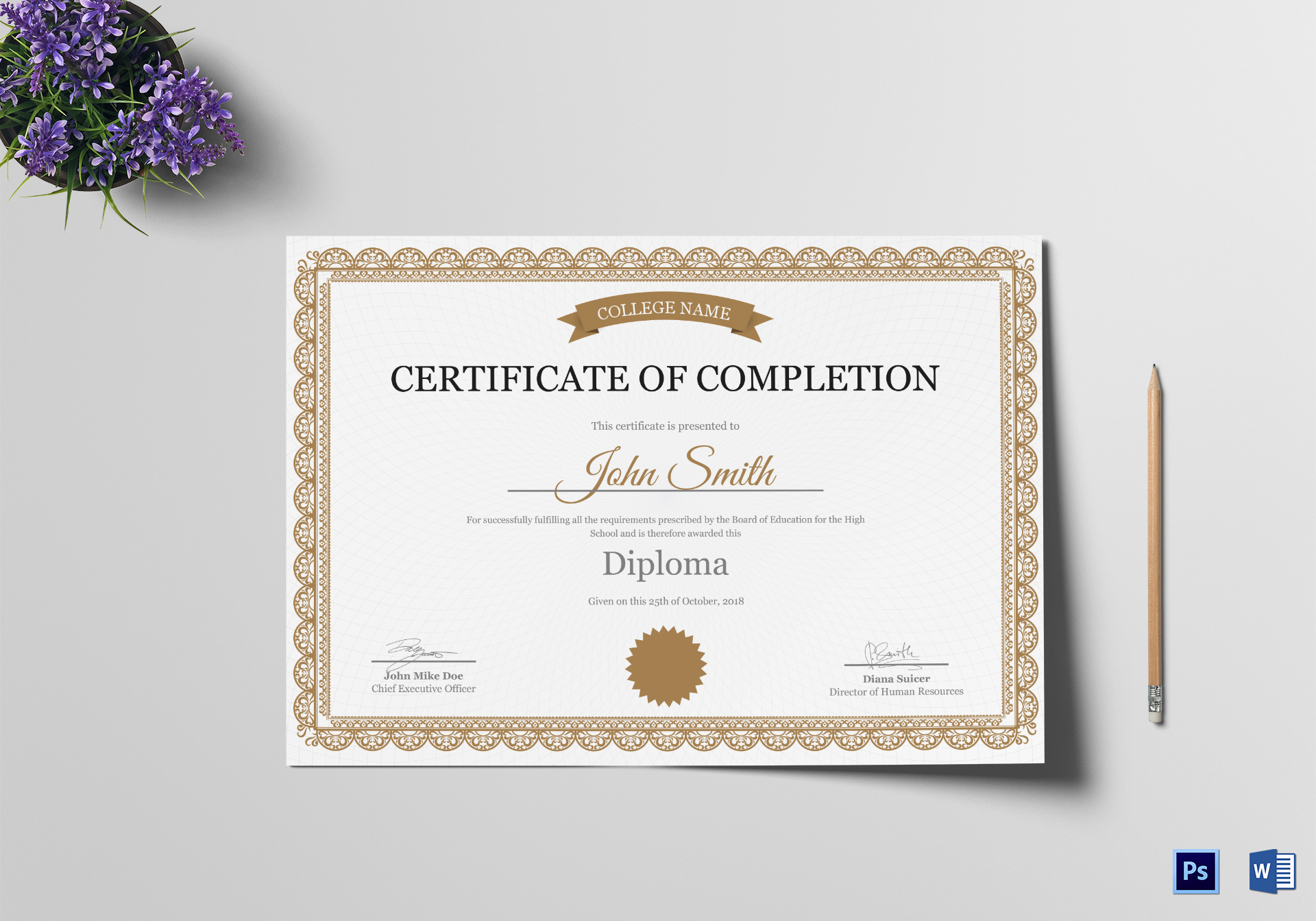 High School Completion Certificate