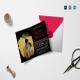 Black Engagement Invitation Card