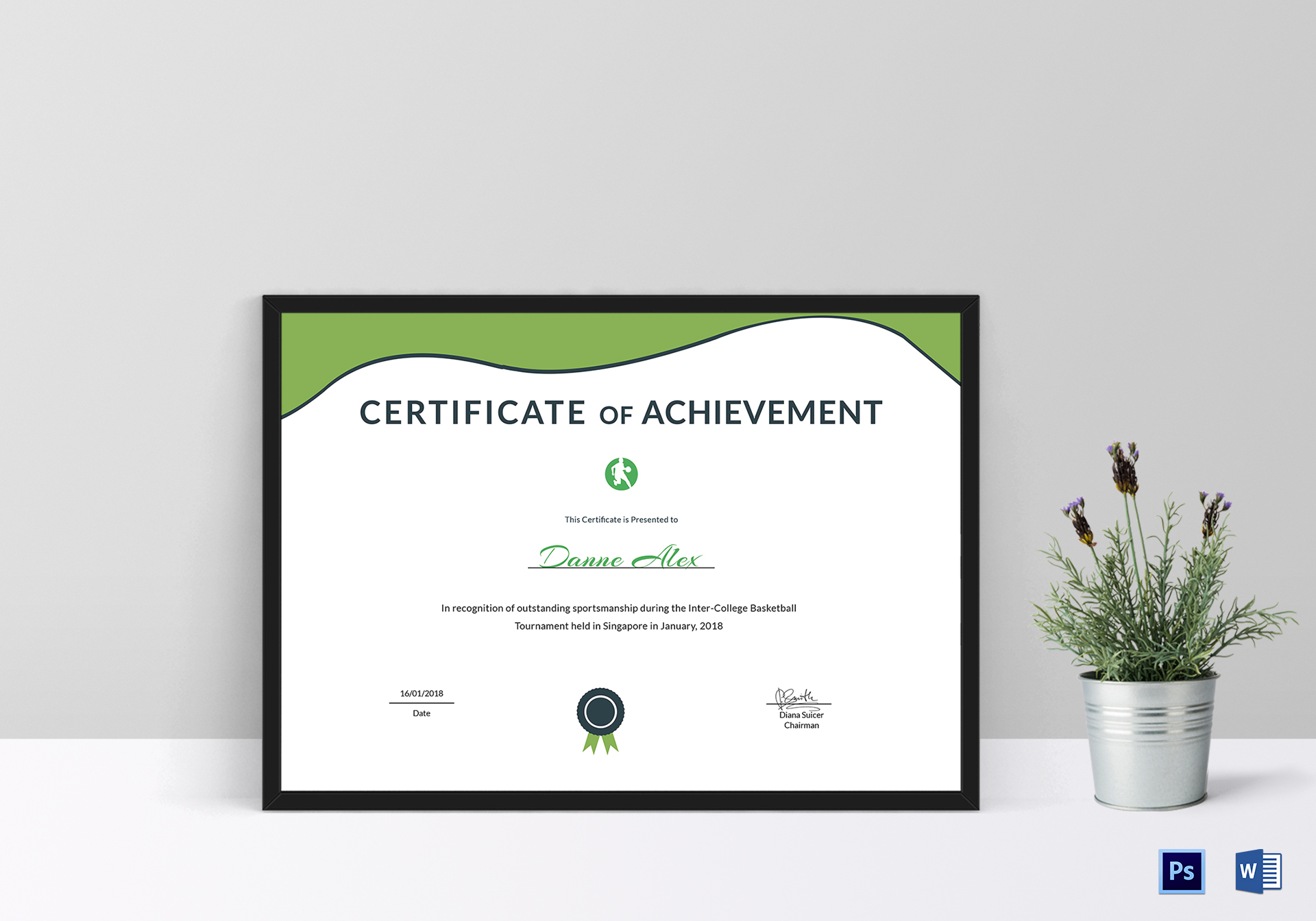 Sportsmanship Achievement Certificate Template