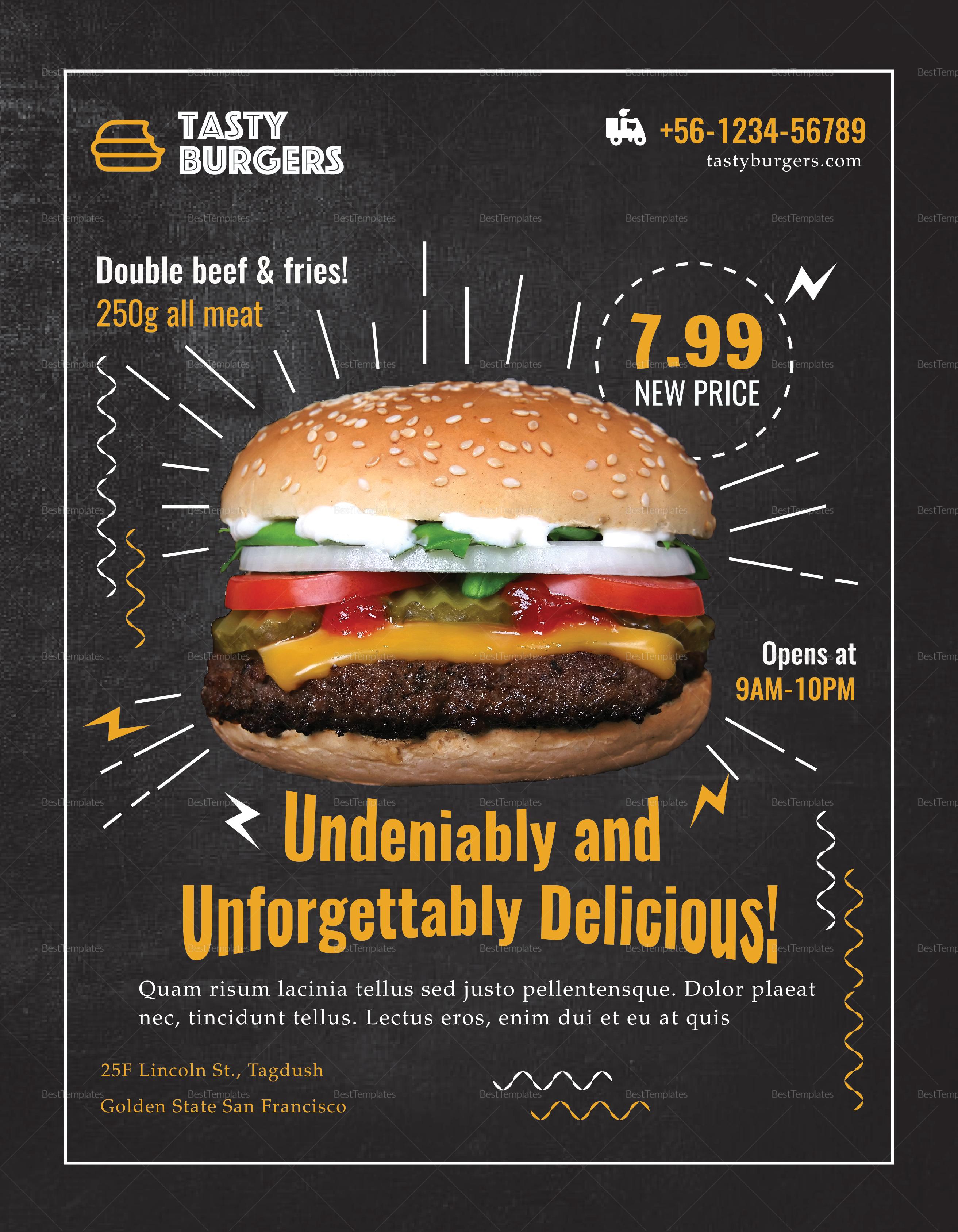 Burger Promotion Flyer