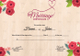 Floral Marriage Certificate Design Template