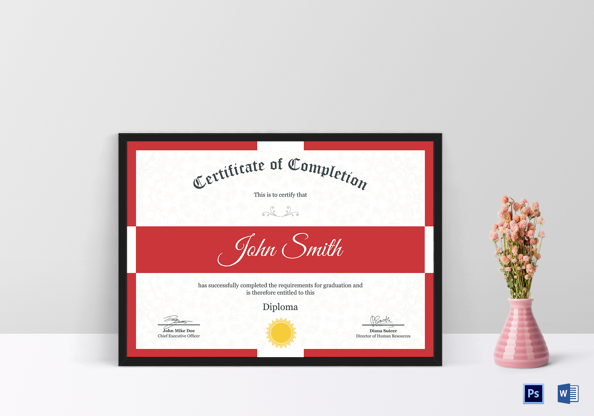Diploma Completion Certificate