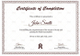 Graduation Diploma Completion Certificate Template