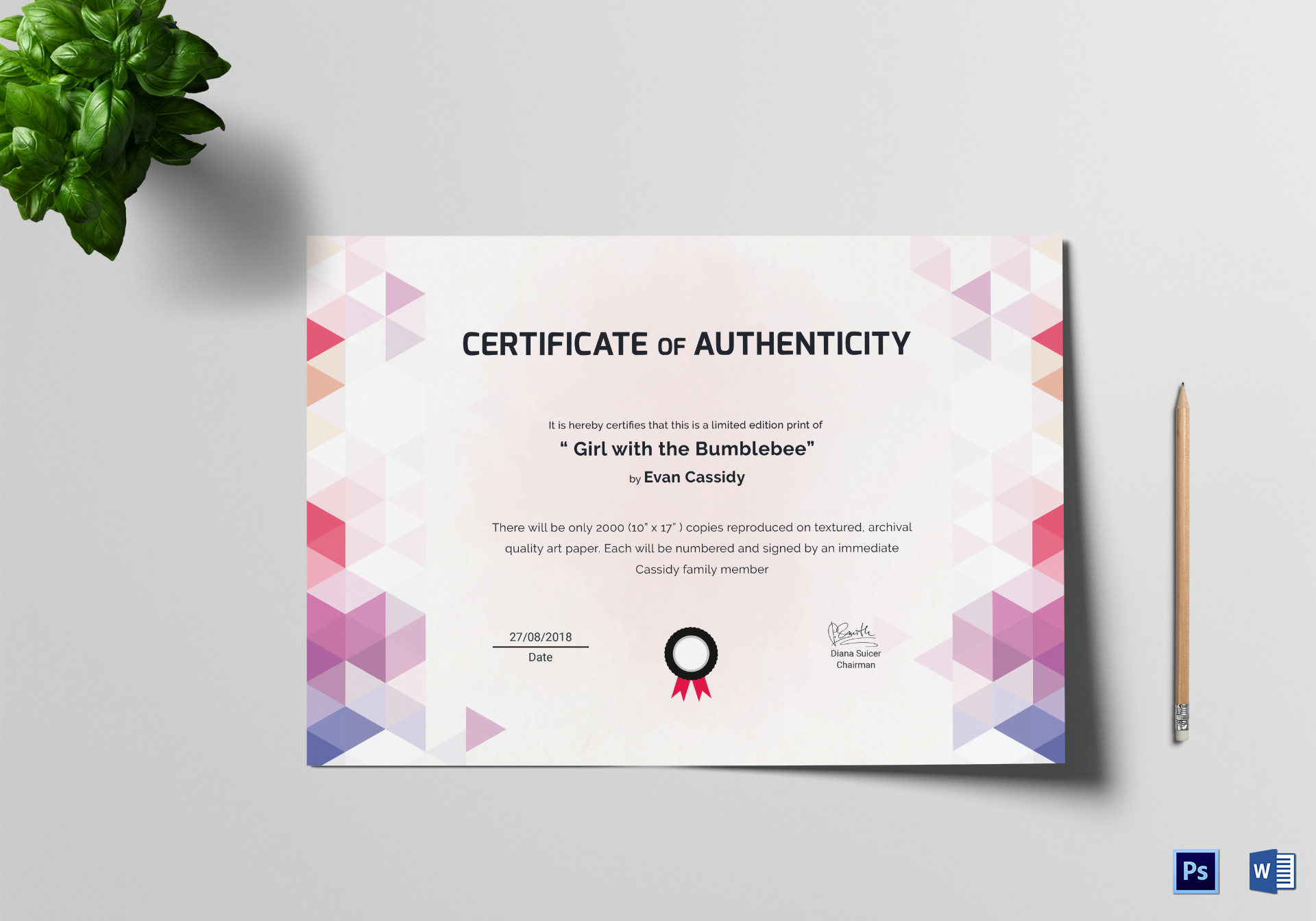 Painting Excellence Certificate Template