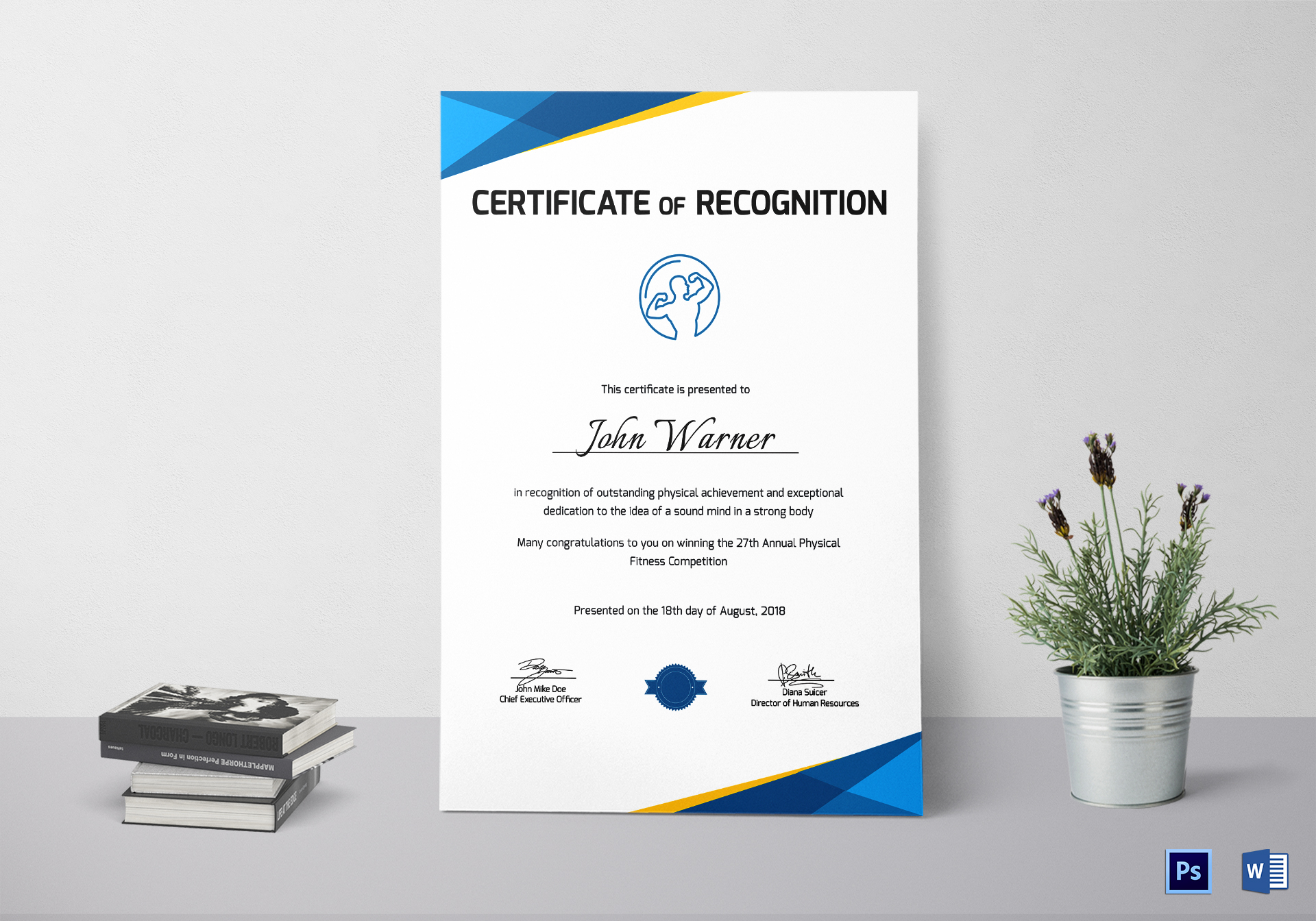 physical fitness recognition certificate template physical fitness recognition certificate design template