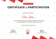 Physical Fitness Participation Certificate Design Template