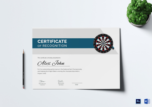 /1061/Certificate-of-darts-award