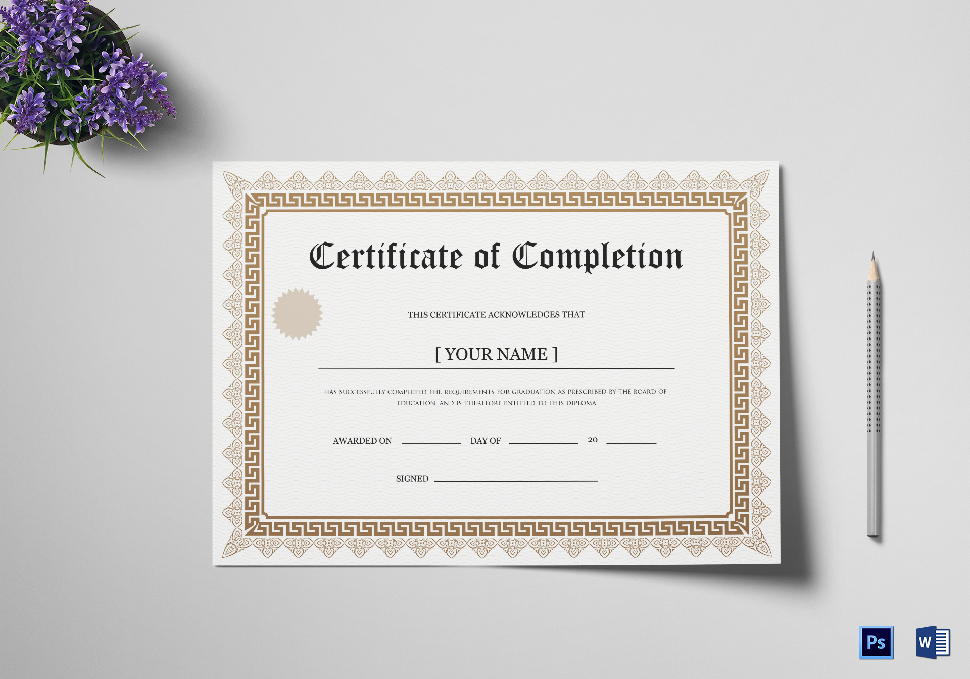 Doctorate Degree Certificate Template
