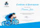 Cyclothon Participation Certificate Template