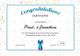 Simple Participant Congratulations Certificate Design Template
