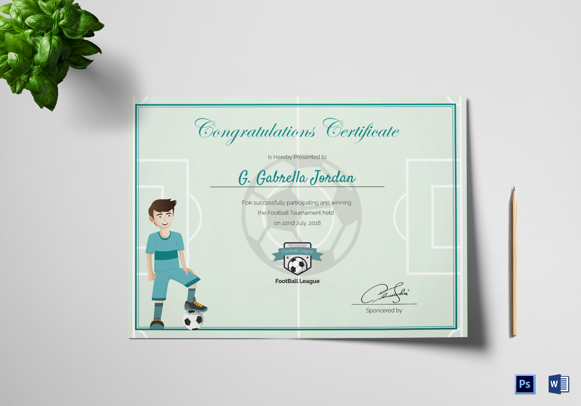 Sports Award Winning Congratulation Certificate Template