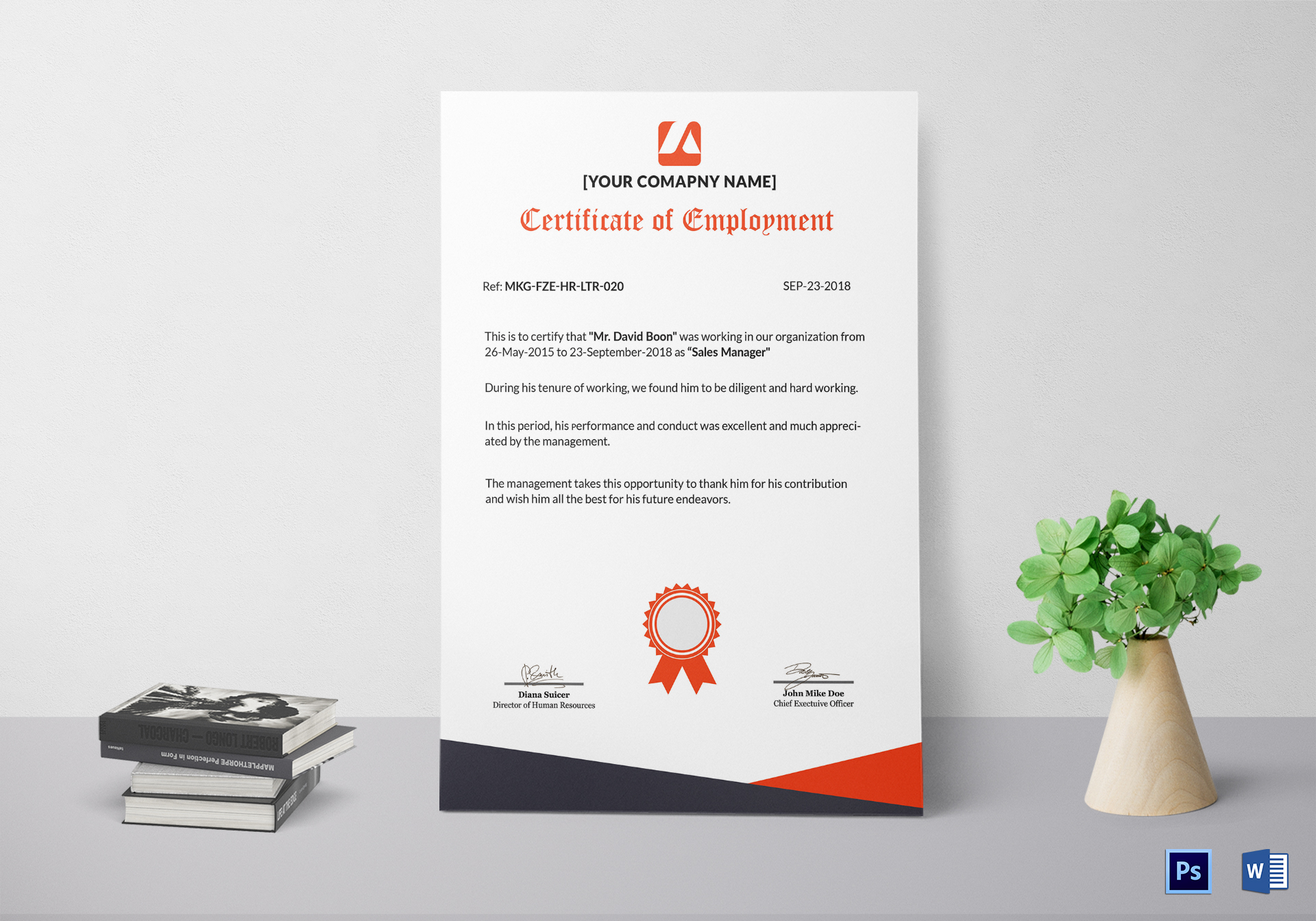 Talented Employment Certificate Template
