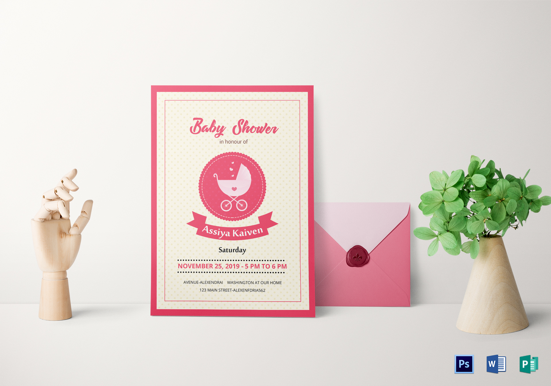 Classic Baby Shower Invitation Template