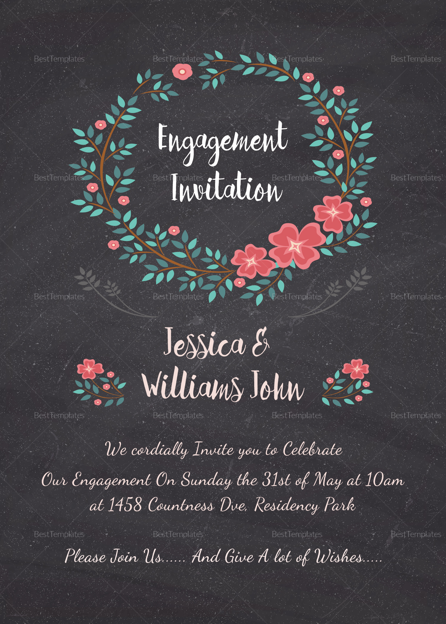 Engagement Invitation Card Design