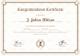Graduation Completion Congratulations Certificate Design Template
