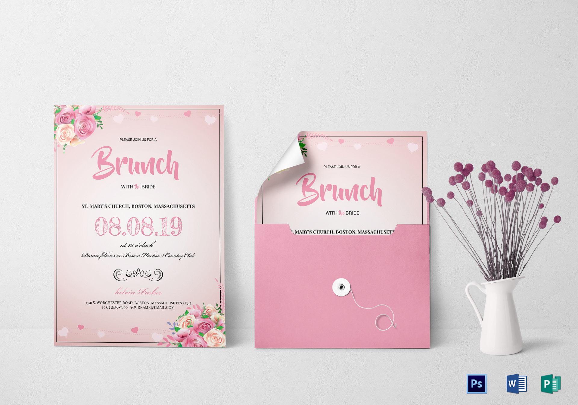 Lovely Bridal Lunch Invitation Template
