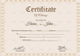 Simple Marriage Certificate Design Template