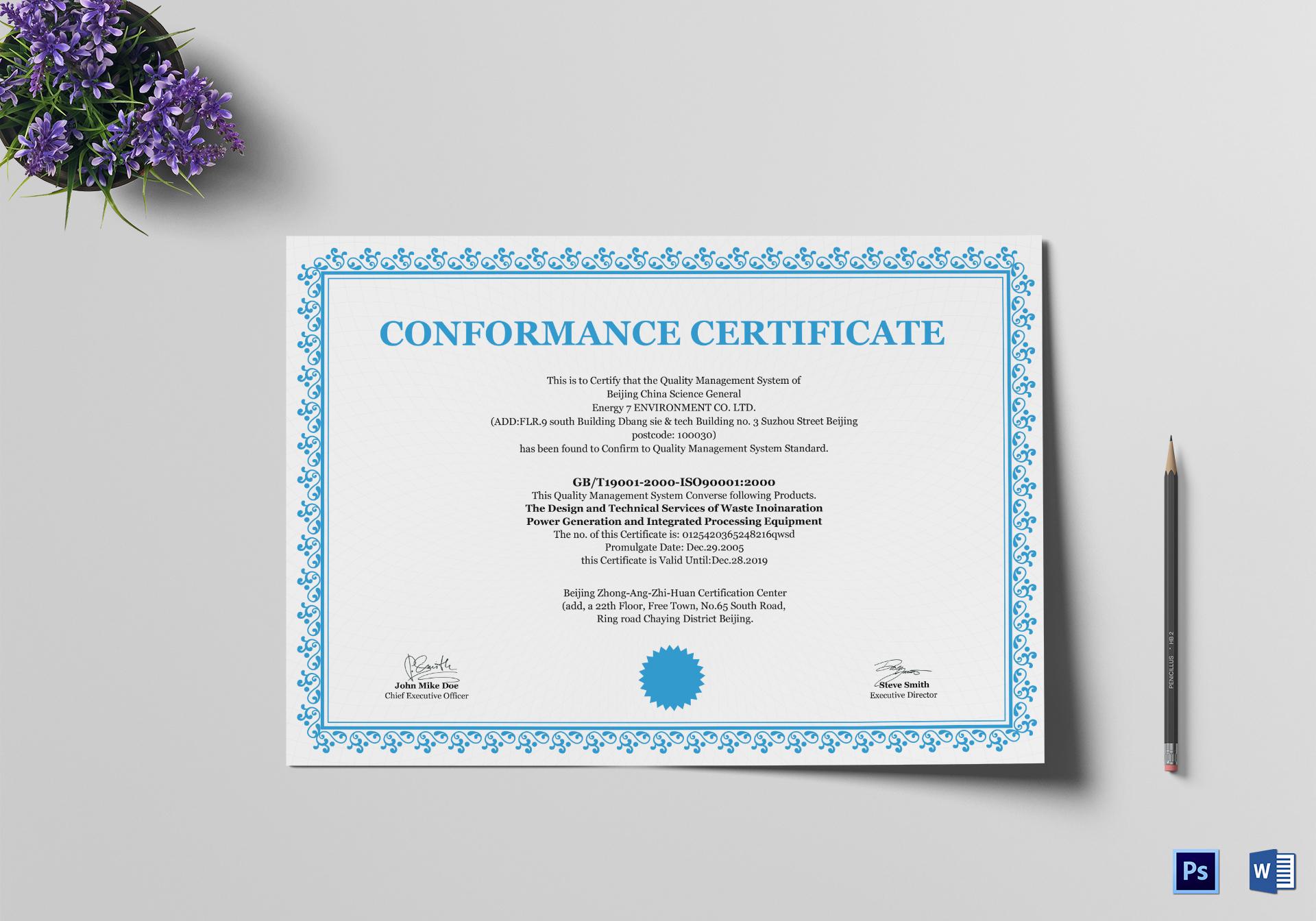 General Certificate Template