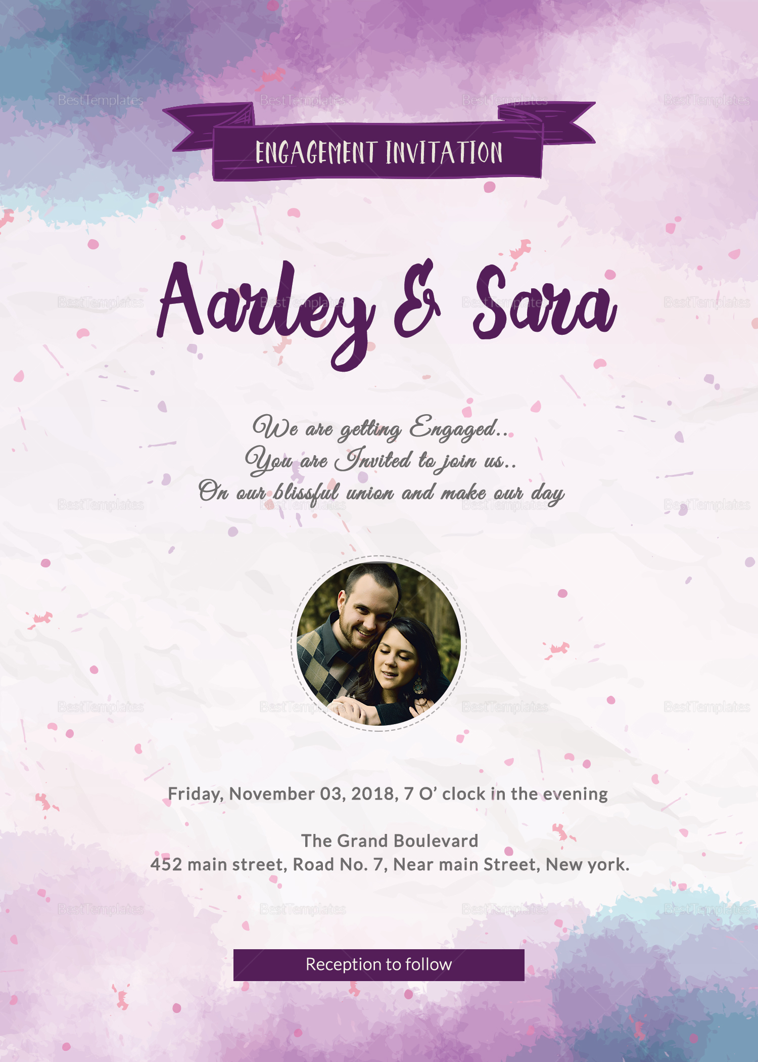 Engagement Party Invitation Card Design