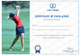 Golf Excellence Certificate Template