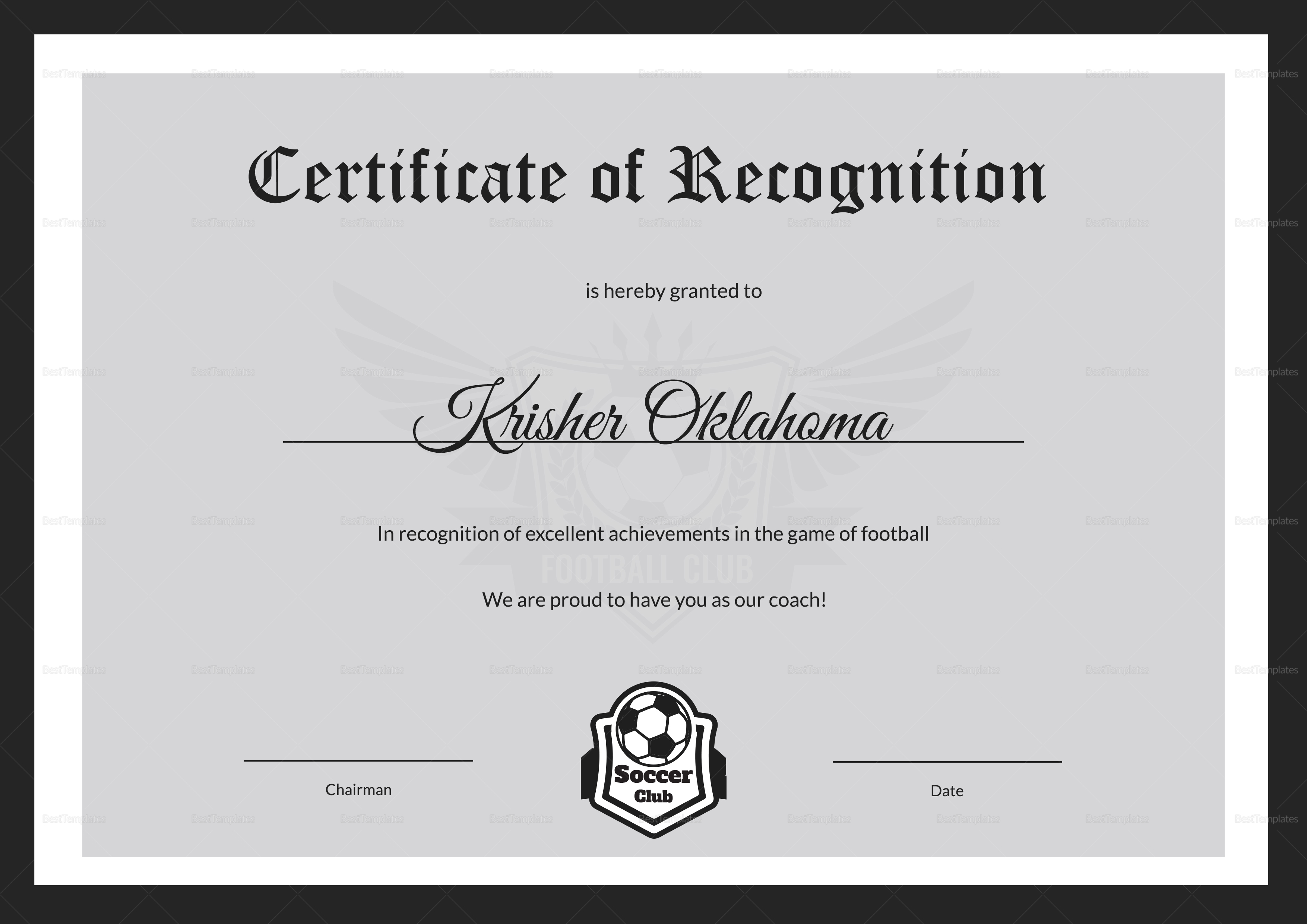 football certificates templates uk image collections