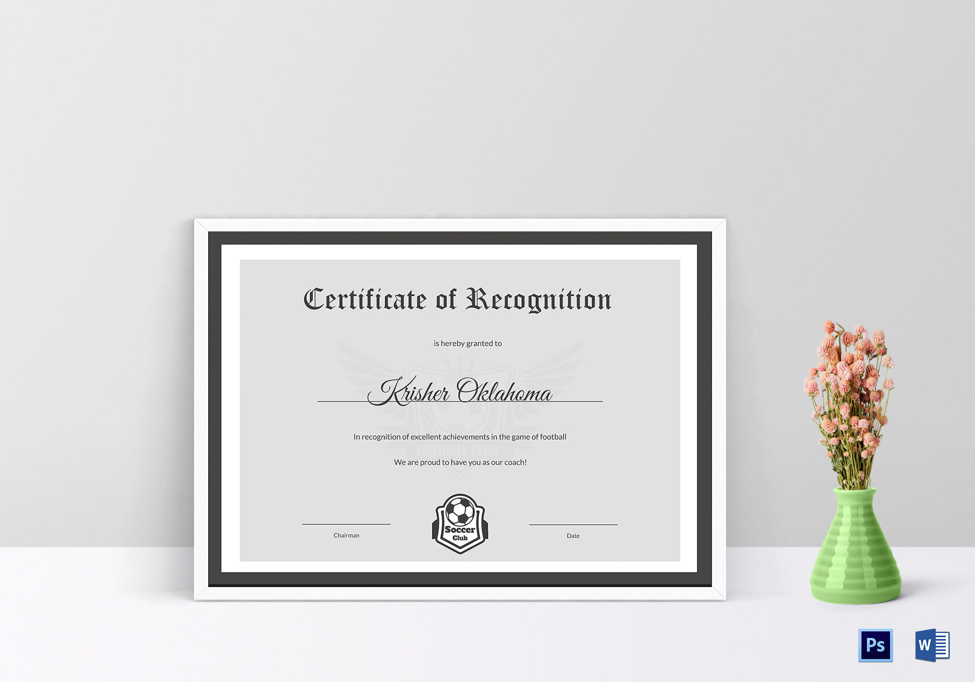 Football certificate template image collections templates excellent coach football certificate design template in psd word excellent coach football certificate template alramifo image yadclub Gallery