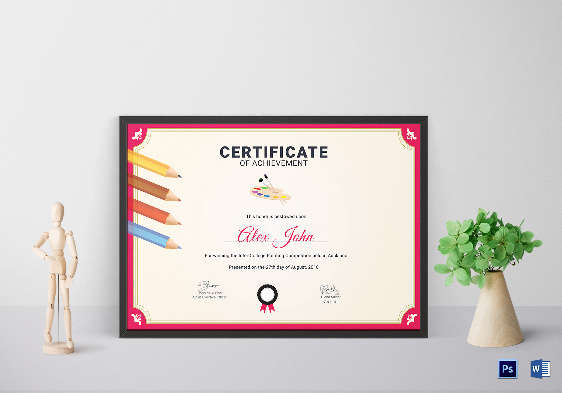 Painting Achievement Certificate Template