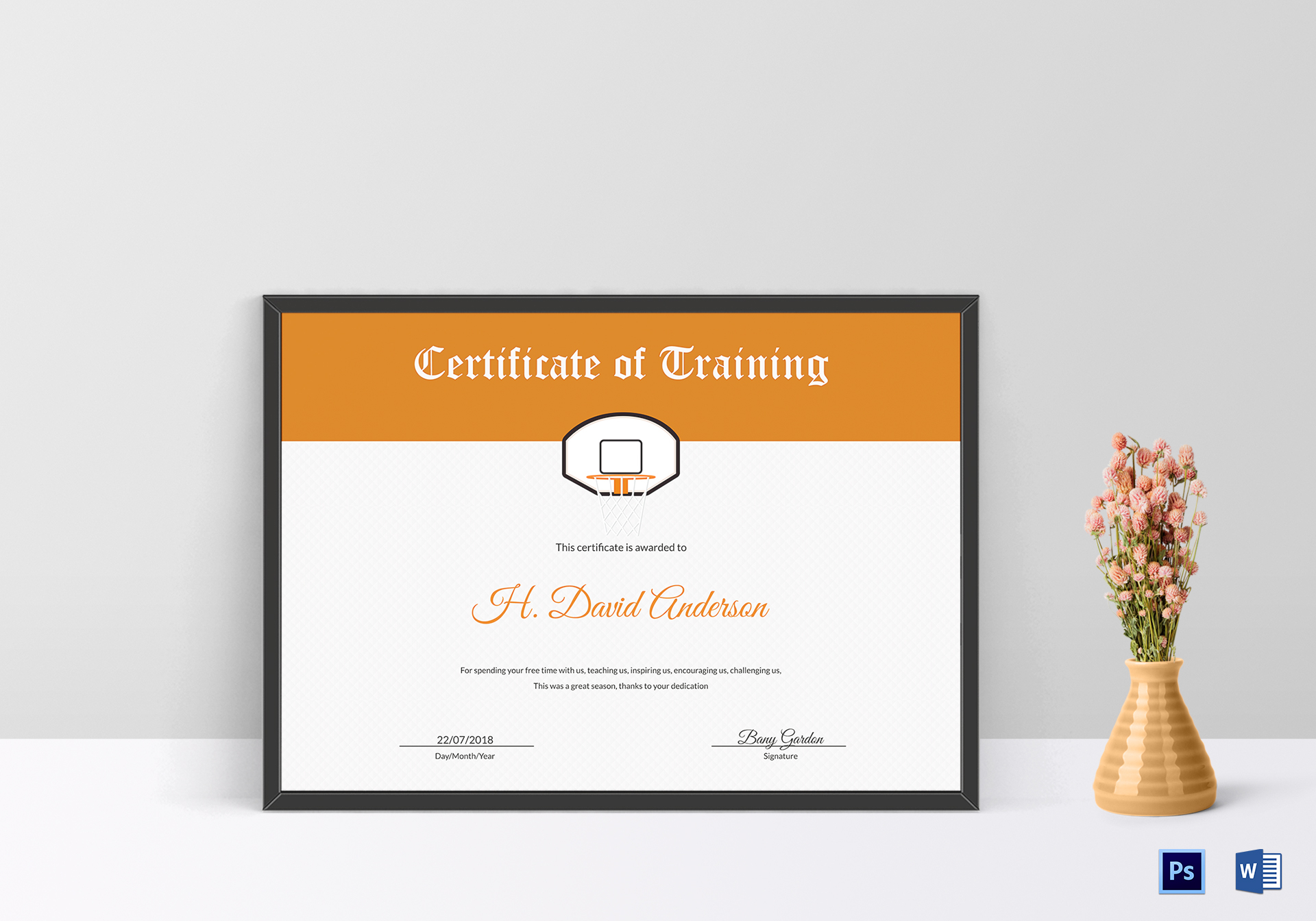 Netball Training Certificate Design Template In Psd Word
