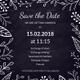 Chalk Board Wedding Invitation Template