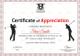 Golf Appreciation Certificate Design Template