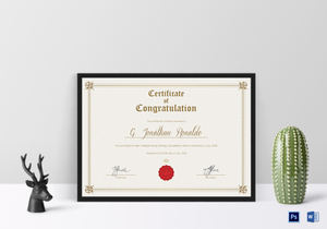 Congratulations certificate designs templates in word psd general format congratulations certificate template yadclub Images
