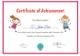 Preschool Certificate Design Template