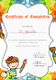 Preschool Diploma Completion Certificate Design Template