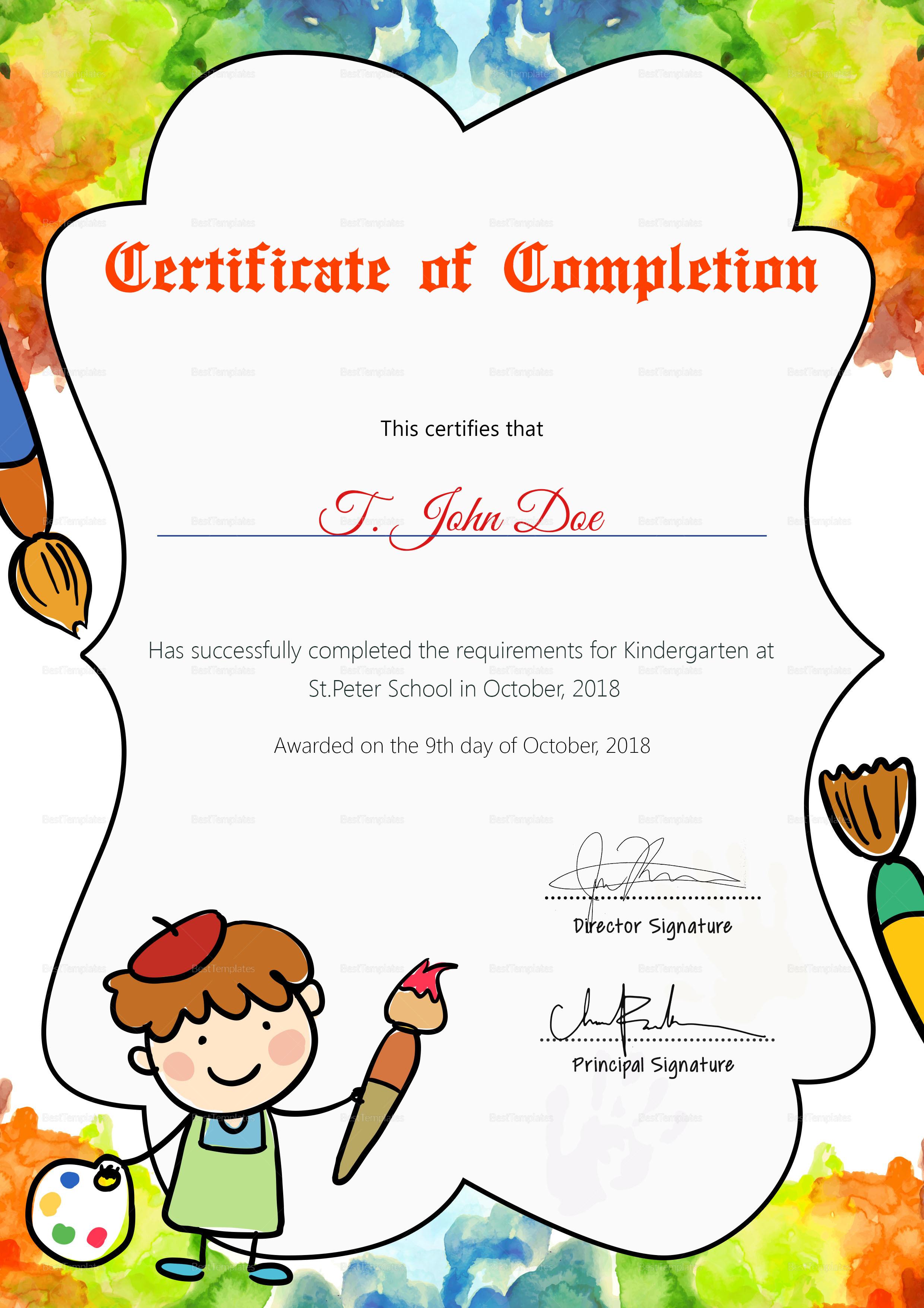 diploma certificate template word