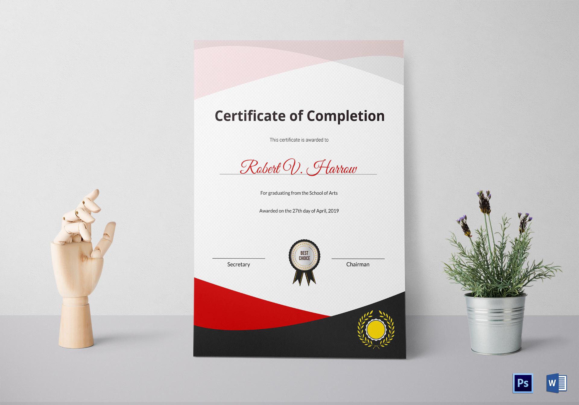 School of Arts Graduation Certificate Template