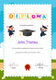 Preschool Diploma Graduation Certificate Design Template