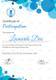 Modern Blue Frame Participation Certificate Template