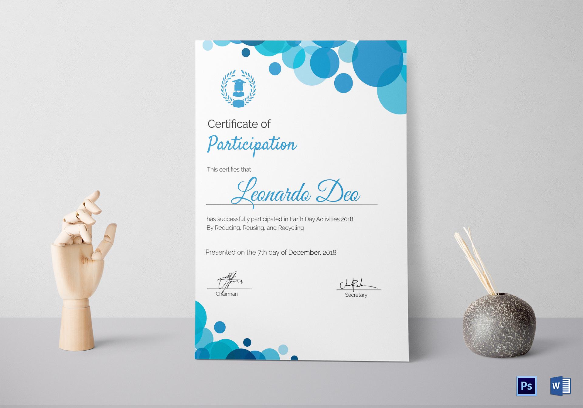 modern certificate design psd