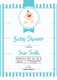 Simple Blue Baby Shower Invitation Design Template