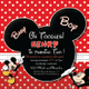 Cute Mickey Mouse Birthday Invitation Template