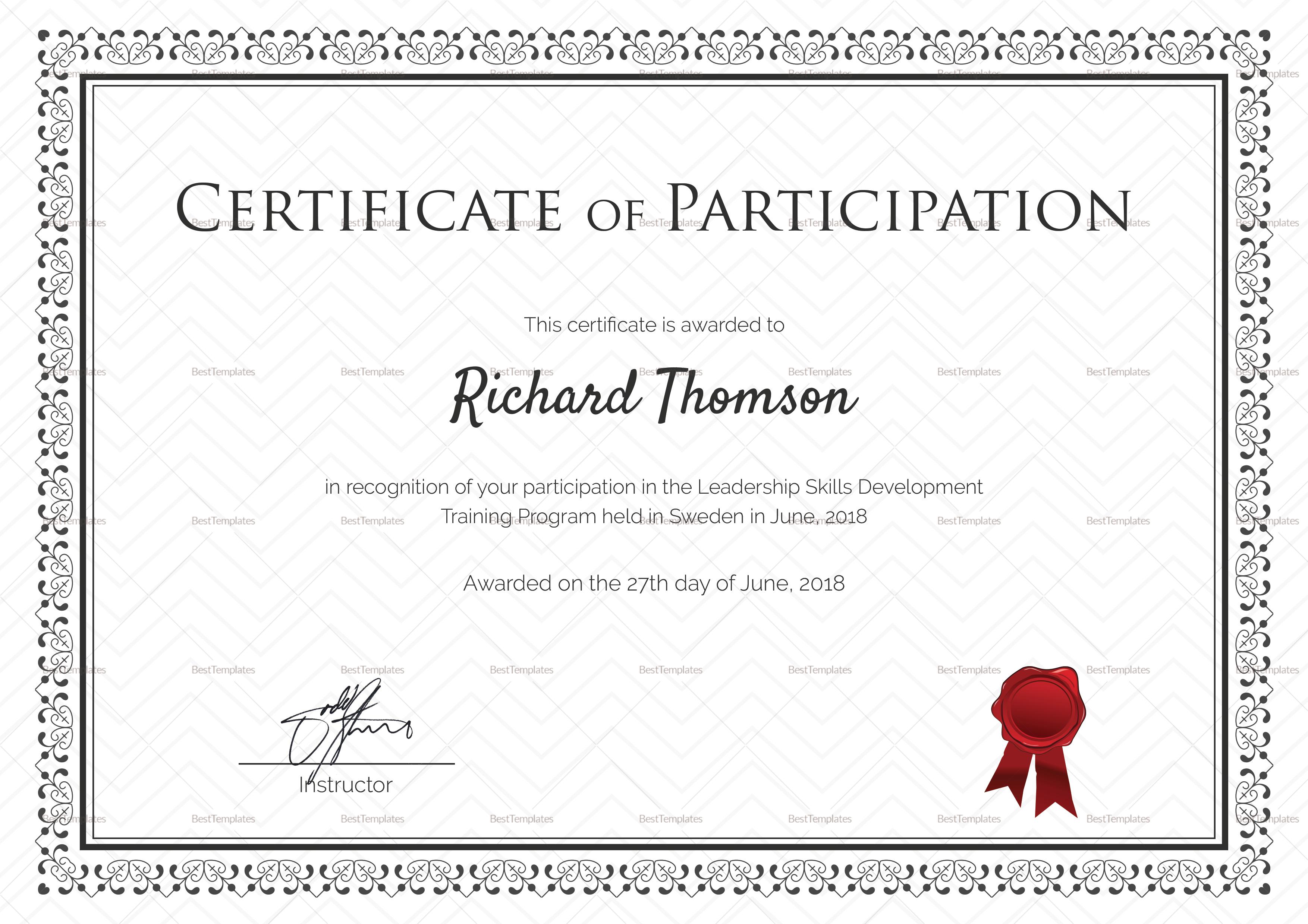 Training certificate template word mandegarfo training certificate template word yelopaper Images