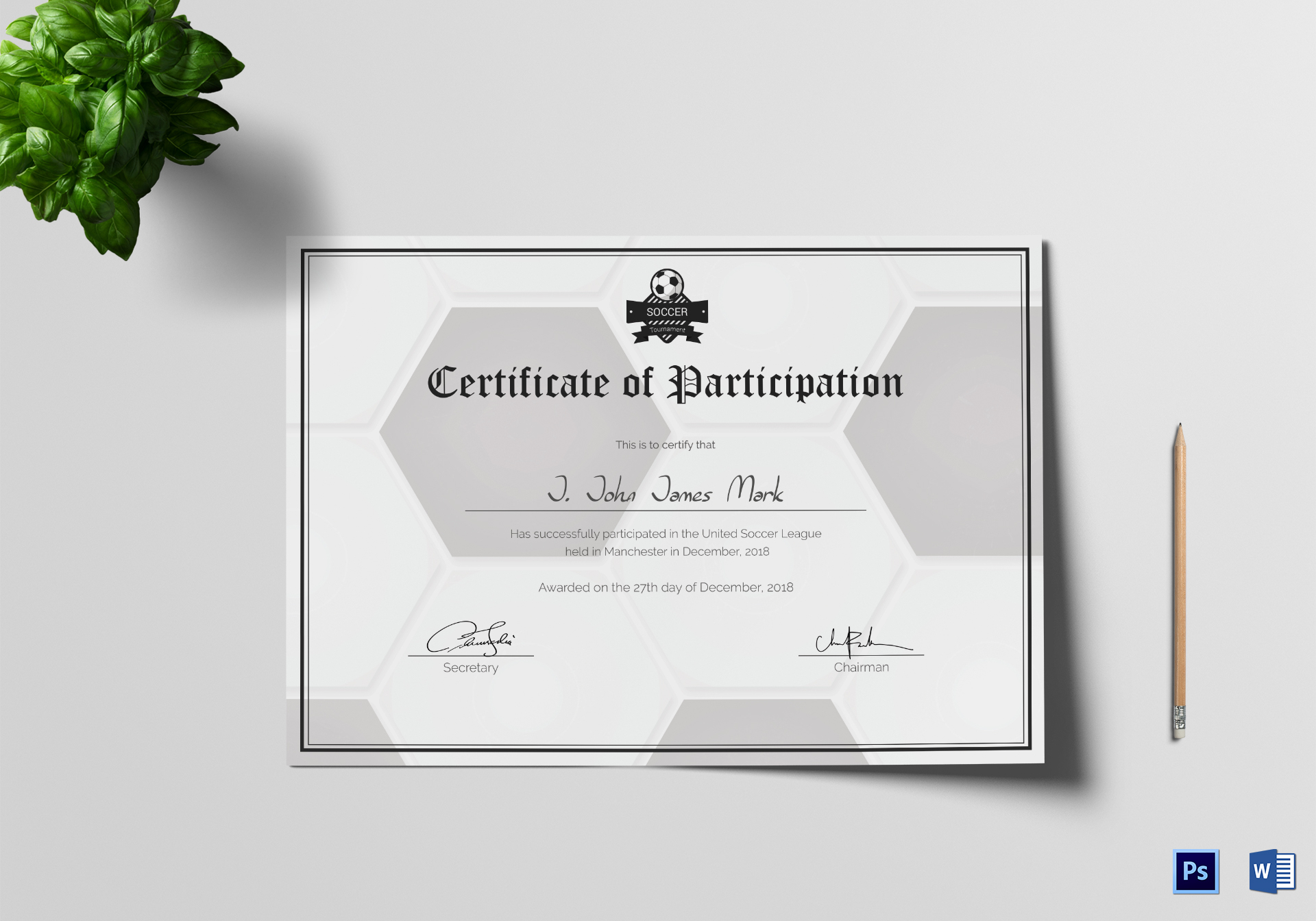 Soccer participation certificate design template in psd word soccer participation certificate soccer participation certificate template 1betcityfo Gallery