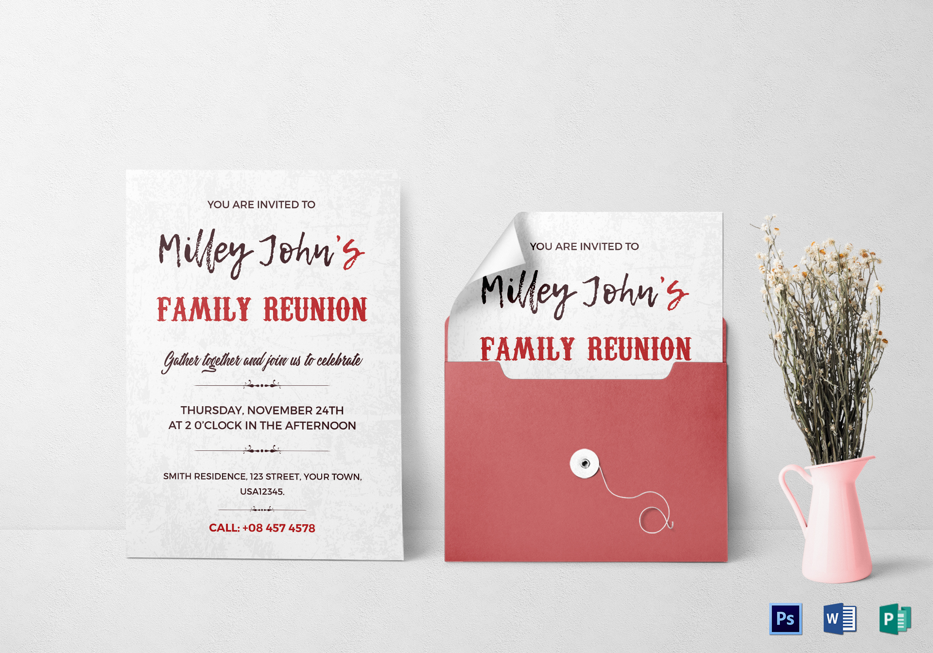 Family Reunion Invitation Card