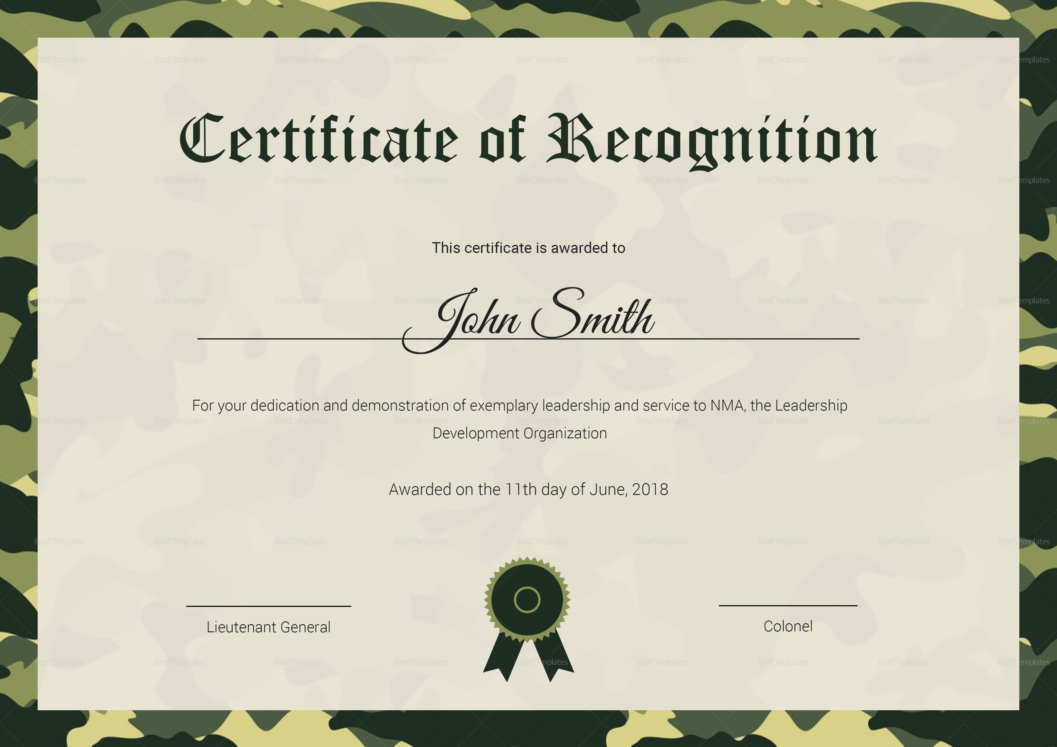Air cadet recognition certificate design template in psd word air cadet recognition certificate air cadet recognition certificate template xflitez Image collections