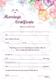 Water Color Wedding Certificate Design Template
