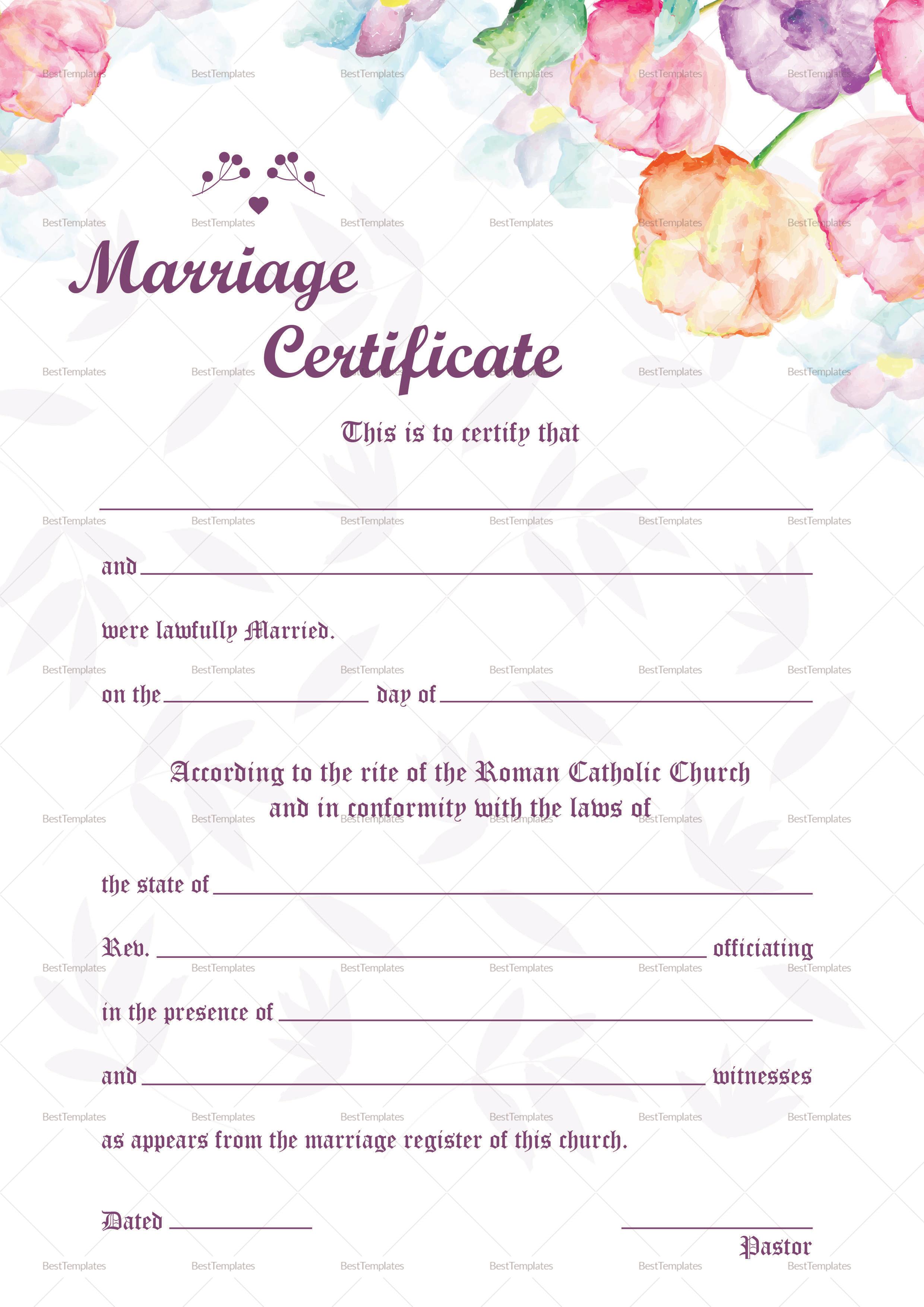 wedding certificate template wedding certificate png