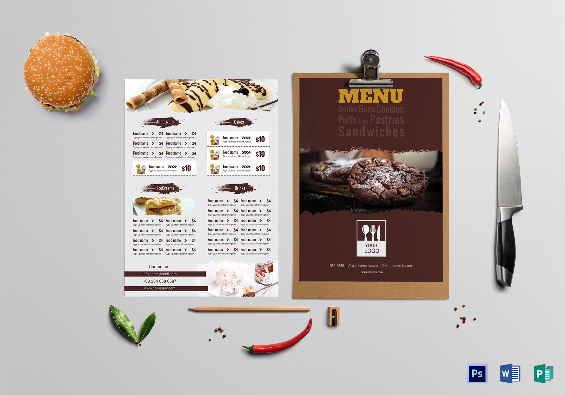 Tasty Bakery Menu