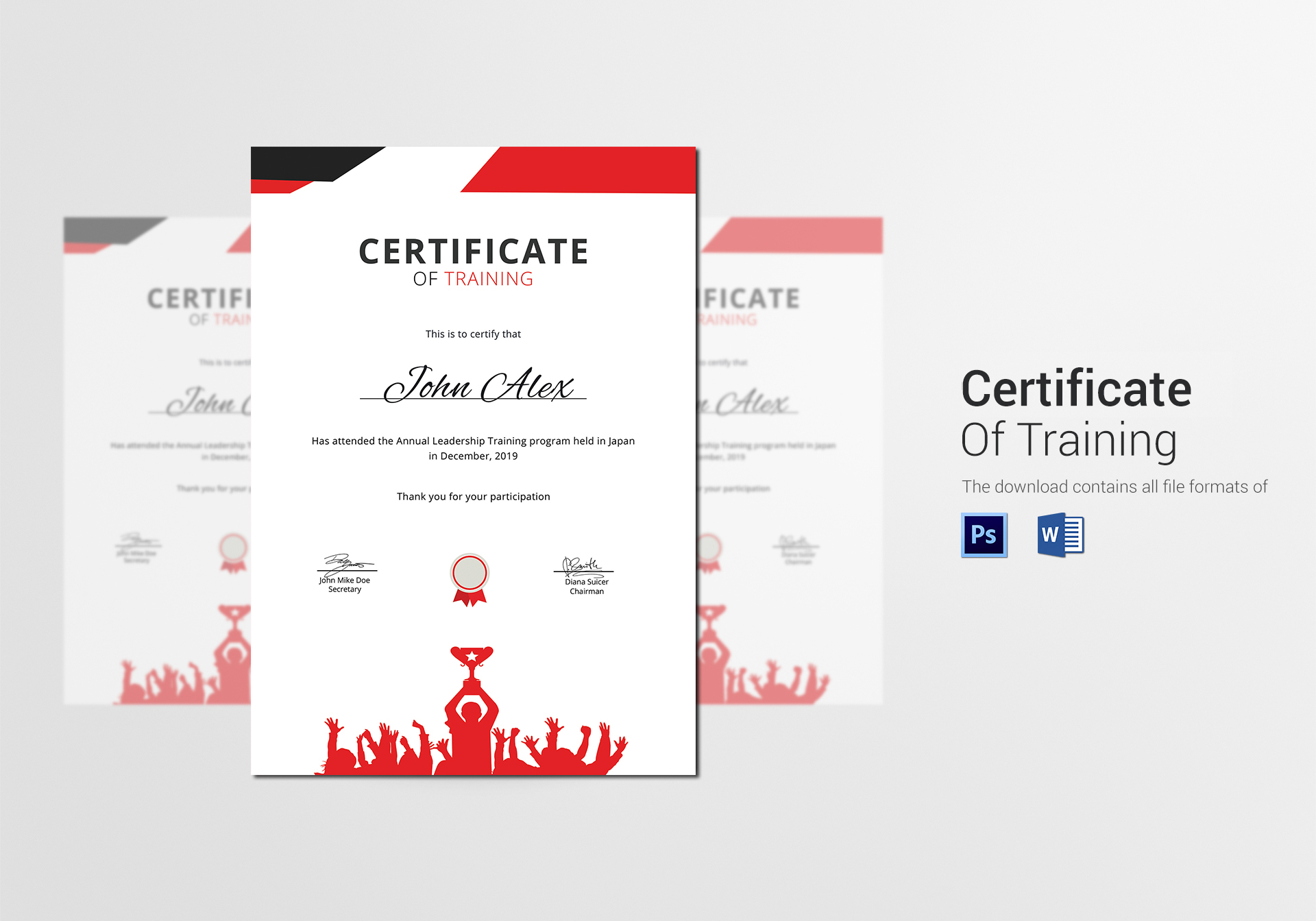 Prize winner training certificate design template in psd word prize winner training certificate template xflitez Image collections